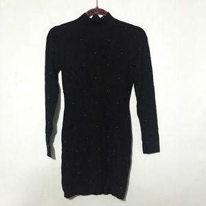 F21 Black Studded Dress